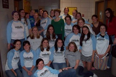 Catholic Women's Floor T-Shirt Photo