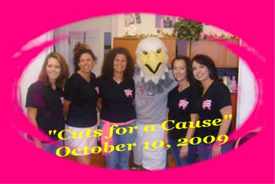"""Cuts For A Cause"" Breast Cancer Cut A Thon T-Shirt Photo"