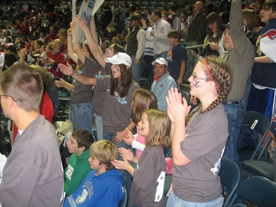 The Uls Admirals Club Cheering At The Hockey Game T-Shirt Photo