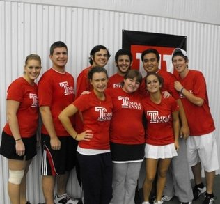 Temple Tennis Team T-Shirt Photo