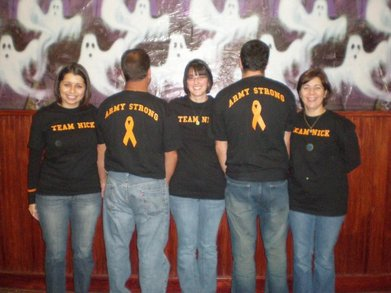 Team Nick   We're Army Strong! T-Shirt Photo