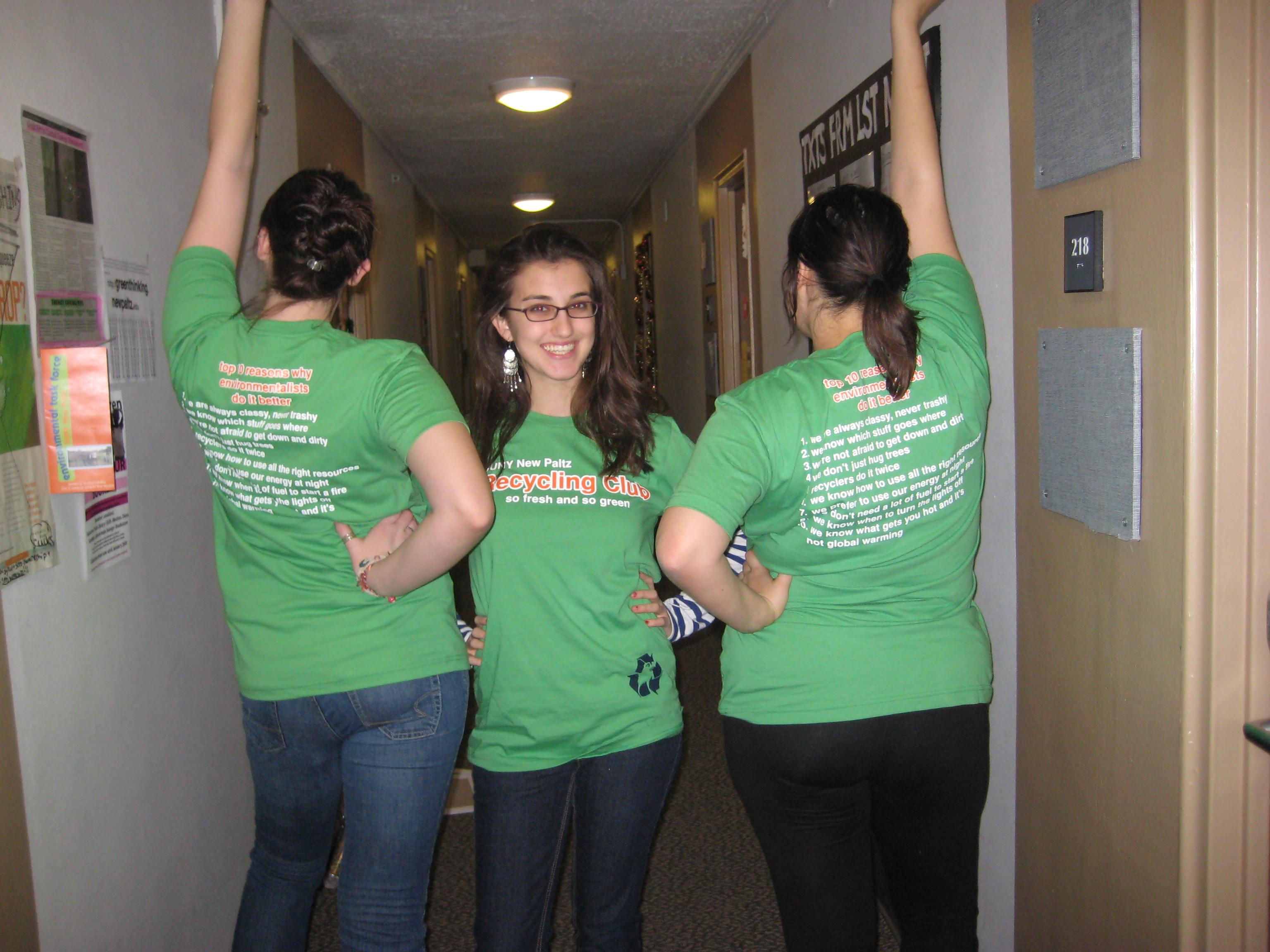 T shirt design help - Recycling Club T Shirt Photo