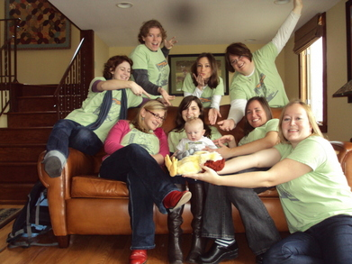 Ladies Of The Fest And Our Mascot, Amos. T-Shirt Photo