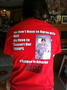 I Believe In American Soldiers T-Shirt Photo