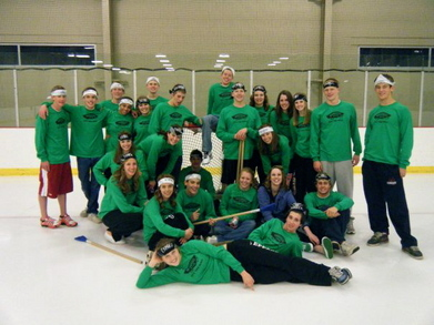 Broomball Snowball T-Shirt Photo