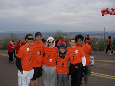 Climb To Conquer Cancer T-Shirt Photo