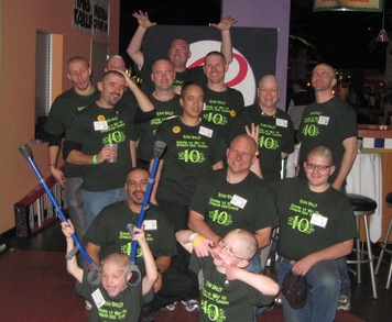 Shaving Our Heads To Conquer Kids' Cancer T-Shirt Photo