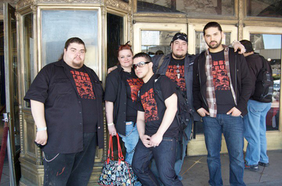 The Mass Grave Pictures Crew At Saturday Nightmares T-Shirt Photo
