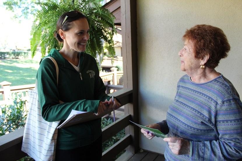 Mary McIntyre met Elaine Muntner while canvassing in the Branchlands retirement community.