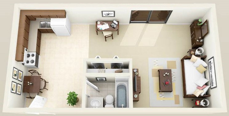 will small rental apartments of 450 to 600 sq feet priced at less