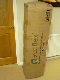 Ergoflex delivered rolled up