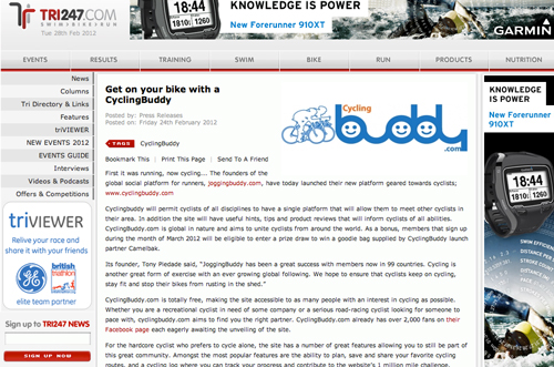Tri247.com - Article on CyclingBuddy.com