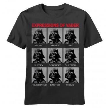 Star Wars Darth Vader Expressions Adult T-shirt