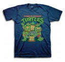 TMNT Group Blue Adult T-Shirt