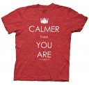 The Big Lebowski Calmer than You Are Adult T-shirt