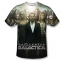 Battlestar Galactica Destiny Walk One Side Subll Adult T-Shirt