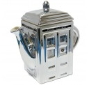 Doctor Who Ceramic Tardis Teapot - Silver 50th Anniversary