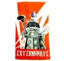 "Doctor Who Dalek Exterminate Licensed Cotton Beach Bath Towel 60"" x 30"""
