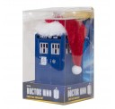 Doctor Who Tardis with Santa Hat Blow Mold Plastic Ornament