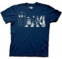 Doctor Who Detailed Street Crossing Abbey Road Adult T-Shirt