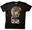 Doctor Who 10th Doctor Head Outline Adult T-Shirt