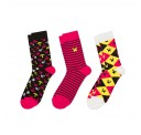 Minecraft Socks 3 Pack - Pink - Large