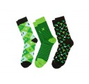 Minecraft Socks 3 Pack - Green - Large