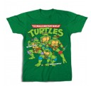 TMNT Group with Weapons Drawn Adult T-Shirt