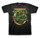 TMNT Group Busting Out Circle Adult T-Shirt