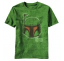 Star Wars Boba Fett - Fett Head  Adult T-shirt