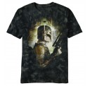 Star Wars Boba Fett Side Fett Mineral Wash Adult T-shirt