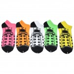 Doctor Who Ladies Five Pack Neon Daleks Lowcut Socks