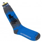 Doctor Who Mens Dalek Exterminate Crew Socks Gray