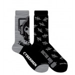 Doctor Who Mens 2 Pack Cyberman and Tally Marks Crew Socks