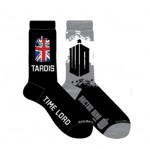 Doctor Who Mens 2 Pack Tardis and Doctor Who Logo Crew Socks