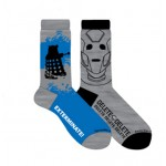 Doctor Who Mens 2 Pack Cyberman and Dalek Crew Socks