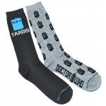 Doctor Who Mens 2 Pack Tardis and Logo Crew Socks
