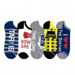 Doctor Who Women's Lowcut Socks 5 Pack Shoe Size 4-10
