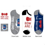 Doctor Who Ladies Text Lowcut Socks