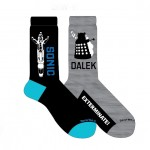Doctor Who Mens 2 Pack Daleks and Sonic Crew Socks