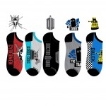 Doctor Who Mens Black Lowcut Socks (5 pack)