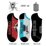 Doctor Who Mens Black Lowcut Socks