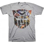 Transformers Autobots Logo Collage Silver Adult T-Shirt