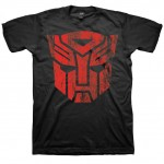 Transformers Red Distressed Autobots Logo Adult T-Shirt