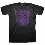 Transformers Purple Distressed Decepticons Logo Adult T-Shirt