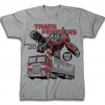 Transformers Optimus Prime Heather Grey Adult T-Shirt