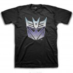 Transformers Decepticon Shiny Logo Adult T-Shirt