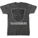 Transformers Autobot Black Logo Charcoal Adult T-Shirt