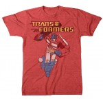 Transformers Optimus Prime Running Red Adult T-Shirt
