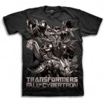 Transformers Fall of Cybertron Dark Design Adult T-Shirt